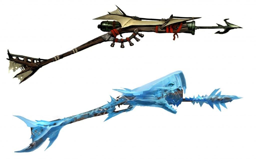 Подводное оружие Guild  Wars 2