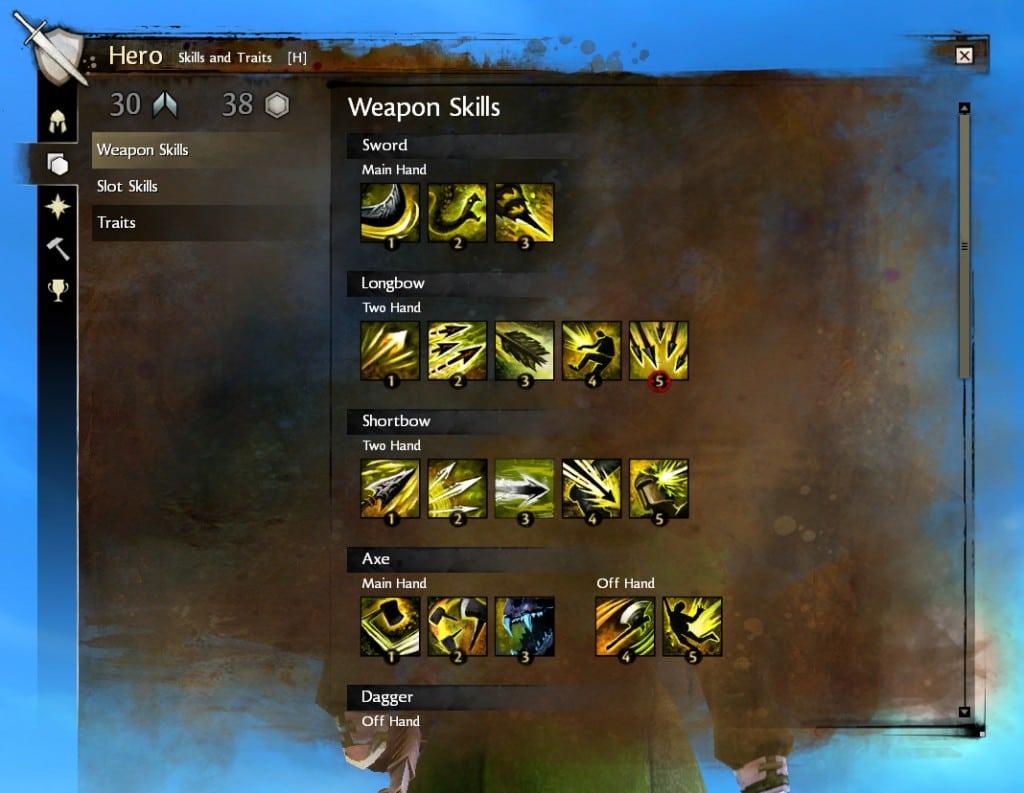 Guild Wars 2 оружейные умения