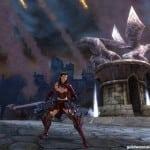 Человек-воин на фоне огня из требушета